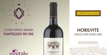"""Concorso """"5 Star Wine"""" Vinitaly 2017 : PREMIA IL CIRCEO DOP ROSSO """"NOBILVITE"""" 2016 CON PUNTEGGIO 90/100"""